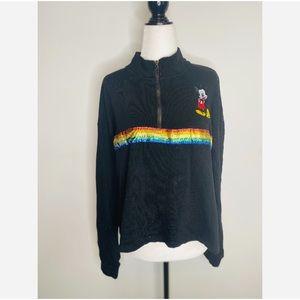 Vintage Disney Black Pullover Sweater Junior XL